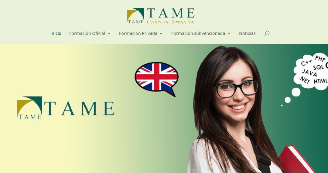 Nueva página web de Tame Formación